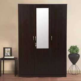 Rolma Three Door Wardrobe in Wenge Colour