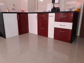Modular kitchen and wardrobes work