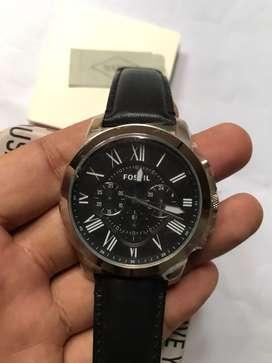 Jam Tangan Fossil FS4812 Black Leather