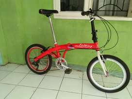 Element Folding City Alloy, Made In Taiwan,  7 Speed, Siap pakai