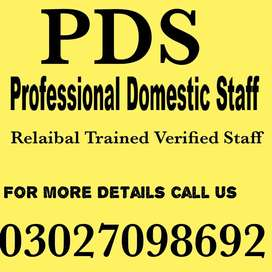 We serve all types of domestic staff all over Pakistan.