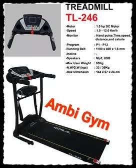 Ambi gym total fitness treadmill listrik tenaga kuat