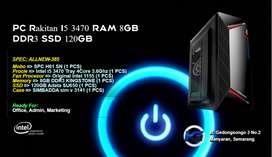 PC Rakitan Intel Core I5 3470 RAM 8GB DDR3 SSD 120GB