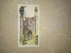 Uang Pecahan lima ribu rupiah tahun 92