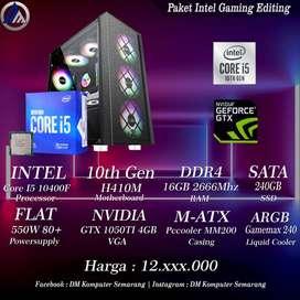 PC Gaming Editing Intel I5 10400F VGA GTX 1050TI 4GB SSD 240GB Ready