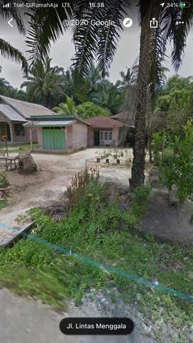 Rumah Kampung Tanah Luas di Tepi Jalan Berkat - Menggala Sakti Rohil