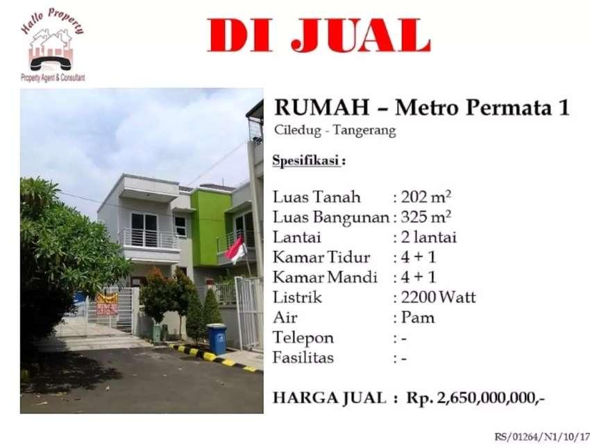 Dijual rumah 2 lantai di Metro Permata 1 Ciledug Tangerang 0
