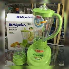 PROMO-BLENDER MIYAKO BL151PFAP 2IN1 PELUMAT BAHAN MIKA 1,5 LITER-BARU