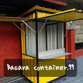 Booth container, booth usaha, booth bazzar, booth makanan, booth