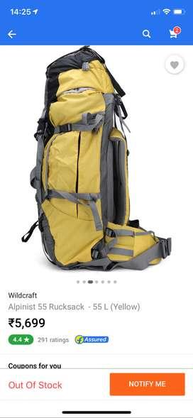 Wildcraft RuckSack 55litres