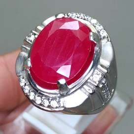 Cincin Batu Akik Merah Delima Ruby B519