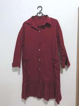 Midi Maroon Dress
