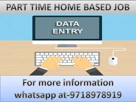 Genuine work of Data entry part time work available .Join now