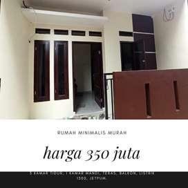 Jual rumah di Jagakarsa harga 350 juta akses motor cash only