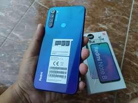 xiaomi note 8 4/64 resmi tam blue biru