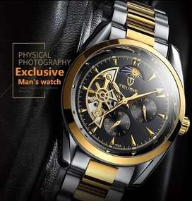 New Men's Mechanical Watches, Waterproof (only Gold left)