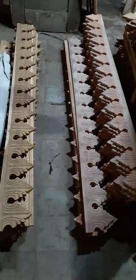 Lisplang kayu jati lebar 15cm harga permeter