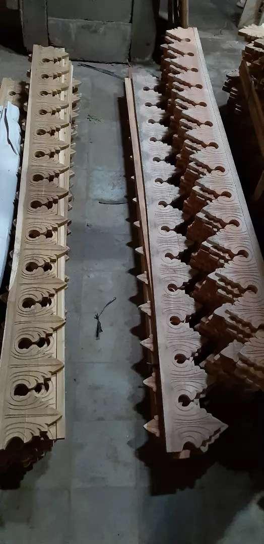 Lisplang kayu jati lebar 15cm harga permeter 0