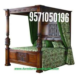 sheesham solid wooden storage four poster double