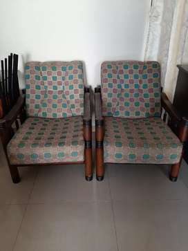 Sofa set with hard wood frame