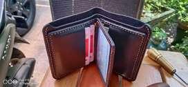 Dompet Pria Kekinian Kulit Jahit Tangan Manual Design Terbaru