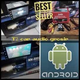 New android asli 2din merk mtech 7inc mumer+camera hd gan ajiib