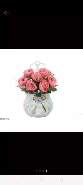 Bunga peoni dlm vas bisa gantung