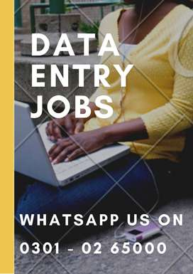 Scam less online data entry work any where/ any time in Pakistan