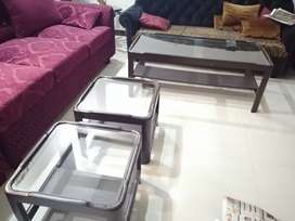 SHEESHAM TABLE SET IN GOOD CONDITION