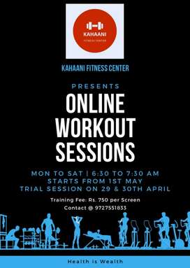 Online workout sessions