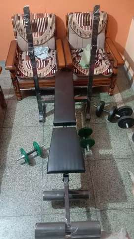 New 6 in one gym banch only in 4500