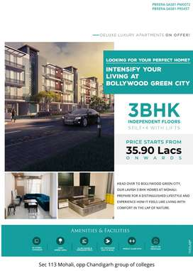 Book your ready to move in luxury apartments @ 35 lakh Near Chandigarh