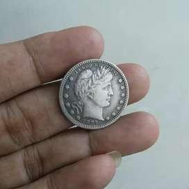 Koin 1897 USA Liberty Quarter Dollar