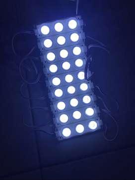 Lampu LED Modul lensa 3 Mata Besar 3w 3 Watt 24Volt 24v