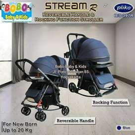 Stroller bisa ayun Pliko Stream R Terbaru BS 397R Kereta Dorong Bayi