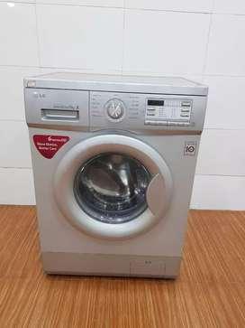 Lg direct drive brand new silver frond loading washing machine