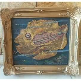 Lukisan ikan pajangan dinding