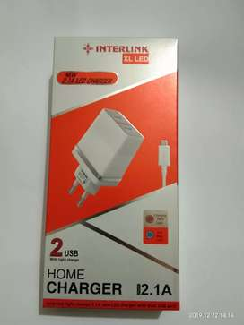Interlink XL LED Home Charger Output2.1A