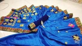 Fancy work sarees