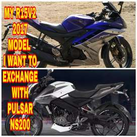 My r15 v2 ,, I want to exchange with ns 200