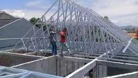 Jasa renovasi atap bangunan dan pemasangan atap baja ringan sni