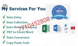 It's simple English offline typing work at home based
