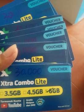 Voucher data internet XL 6gb