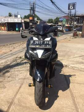 Yamaha Aerox VVa 155 hitam Tahun 2019 mesin mulus body ok