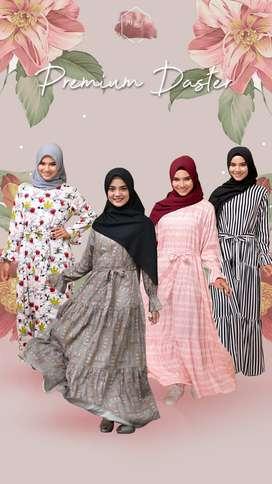 Gamis Katun Rayon Homey Dress  Daster Premium Garnetta