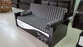 New designer wooden sofa cum bed with bonded hard mattress with box