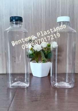 Botol kale kotak 1 liter / botol plastik 1 liter