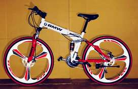 BMW 21 shemano gear foldable cycles available