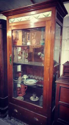 Antique Unique Teak wood showcase