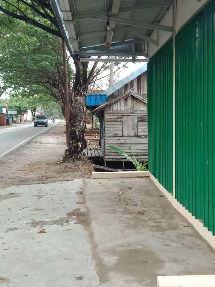 jual toko plus rumah di pinggir jalan raya besar rp.400.000.000-l nego